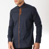 /achat-chemises-manches-longues/classic-series-chemise-manches-longues-3362-bleu-marine-marron-163177.html