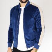 /achat-vestes/frilivin-veste-zippee-velours-avec-bandes-qq523-bleu-roi-ecru-163241.html