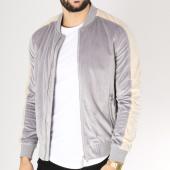 /achat-vestes/frilivin-veste-zippee-velours-avec-bandes-qq523-gris-ecru-163249.html