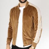 /achat-vestes/frilivin-veste-zippee-velours-avec-bandes-qq523--camel-ecru-163250.html