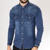 /achat-chemises-manches-longues/frilivin-chemise-manches-longues-bleu-marine-163251.html
