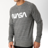 /achat-sweats-col-rond-crewneck/nasa-sweat-crewneck-worm-logo-anthracite-chine-163200.html