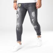 /achat-jeans/grj-denim-jean-skinny-patchs-brodes-13409-noir-163338.html