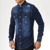 /achat-chemises-manches-longues/grj-denim-chemise-manches-longues-jean-13456-bleu-marine-163368.html
