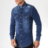 /achat-chemises-manches-longues/grj-denim-chemise-manches-longues-jean-13456-bleu-marine-163379.html