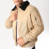 /achat-bombers/brave-soul-bomber-col-mouton-greenfield-beige-noir-163438.html