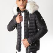 /achat-doudounes/comme-des-loups-doudoune-fourrure-f1864-noir-blanc-163424.html