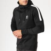 /achat-sweats-zippes-capuche/gym-king-sweat-zippe-capuche-core-poly-noir-blanc-163411.html
