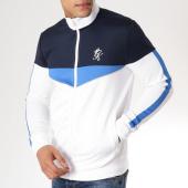 /achat-sweats-zippes-capuche/gym-king-veste-zippee-capuche-1081-blanc-bleu-marine-163414.html