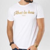 /achat-t-shirts/ohmondieusalva-tee-shirt-abat-la-hess-logo-blanc-dore-163485.html