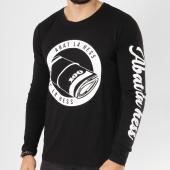 /achat-t-shirts-manches-longues/ohmondieusalva-tee-shirt-manches-longues-abat-la-hess-billet-noir-blanc-163526.html