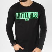/achat-t-shirts-manches-longues/ohmondieusalva-tee-shirt-manches-longues-abat-la-hess-box-logo-noir-vert-163533.html