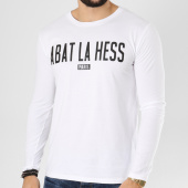 /achat-t-shirts-manches-longues/ohmondieusalva-tee-shirt-manches-longues-abat-la-hess-logo-alternate-blanc-noir-163536.html