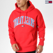 /achat-sweats-capuche/tommy-hilfiger-jeans-sweat-capuche-clean-collegiate-5911-rouge-163673.html