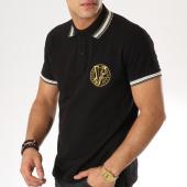 /achat-polos-manches-courtes/versace-jeans-polo-manches-courtes-b3gta7p1-noir-blanc-dore-163750.html