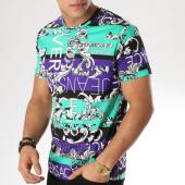 /achat-t-shirts/versace-jeans-tee-shirt-tup600-b3gta7s0-vert-violet-163765.html
