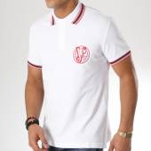 /achat-polos-manches-courtes/versace-jeans-polo-manches-courtes-b3gta7p1-blanc-rouge-163783.html