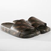 /achat-claquettes-sandales/guess-claquettes-femme-fl6savrub19-black-gold-163941.html