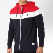/achat-sweats-zippes-capuche/jack-and-jones-sweat-zippe-capuche-ottowa-bleu-marine-rouge-blanc-163906.html