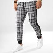 /achat-pantalons-carreaux/john-h-pantalon-jogging-a-carreaux-avec-bandes-2282-163870.html