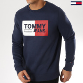 /achat-sweats-col-rond-crewneck/tommy-hilfiger-jeans-sweat-crewneck-essential-logo-bleu-marine-163938.html