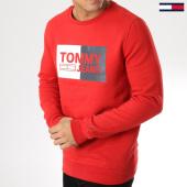 /achat-sweats-col-rond-crewneck/tommy-hilfiger-jeans-sweat-crewneck-essential-logo-bleu-rouge-163939.html