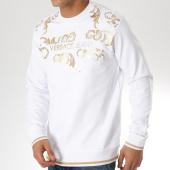 /achat-sweats-col-rond-crewneck/versace-jeans-sweat-crewneck-tup300-b7gta7fu-blanc-dore-163800.html