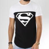 /achat-t-shirts-longs-oversize/superman-tee-shirt-oversize-bicolore-logo-noir-blanc-163980.html