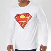 /achat-t-shirts-manches-longues/superman-tee-shirt-manches-longues-classic-logo-blanc-163996.html