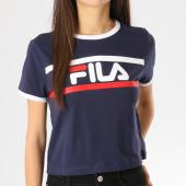 https://www.laboutiqueofficielle.com/achat-t-shirts/tee-shirt-femme-crop-ashley-687081-bleu-marine-164047.html