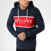 /achat-sweats-capuche/deeluxe-sweat-capuche-five-bleu-marine-rouge-164108.html