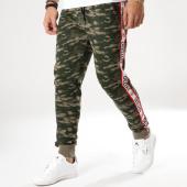 /achat-pantalons-joggings/deeluxe-pantalon-jogging-avec-bandes-sody-vert-kaki-camouflage-164112.html
