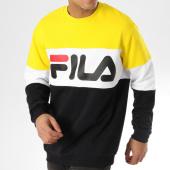 /achat-sweats-col-rond-crewneck/fila-sweat-crewneck-straight-block-681255-noir-jaune-blanc-164113.html