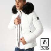 /achat-parkas/comme-des-loups-doudoune-chauffante-fourrure-moscou-blanc-noir-164246.html