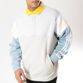 /achat-sweats-col-zippe/adidas-sweat-col-polo-rugby-dv3147-ecru-gris-chine-bleu-clair-164318.html