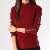 /achat-pulls/girls-only-pull-femme-avec-bandes-aw826-bordeaux-164393.html
