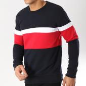 /achat-sweats-col-rond-crewneck/lbo-sweat-crewneck-tricolore-583-bleu-marine-rouge-blanc-164345.html