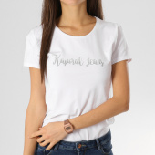 /achat-t-shirts/kaporal-tee-shirt-femme-busy-blanc-argente-164471.html