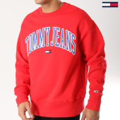 /achat-sweats-col-rond-crewneck/tommy-hilfiger-jeans-sweat-crewneck-clean-collegiate-5945-rouge-164450.html