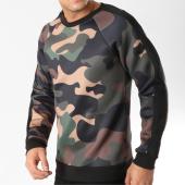 /achat-sweats-col-rond-crewneck/frilivin-sweat-crewneck-a-bandes-6037-vert-kaki-camouflage-164759.html