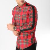 /achat-chemises-manches-longues/frilivin-chemise-manches-longues-avec-bandes-4103-rouge-vert-164775.html