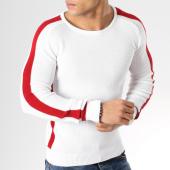 /achat-pulls/john-h-pull-a-bandes-jp-50-blanc-rouge-164817.html