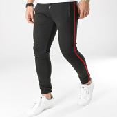 /achat-pantalons-carreaux/lbo-pantalon-a-carreaux-jogger-avec-bandes-noir-et-rouge-588-gris-anthracite-164783.html