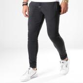 /achat-pantalons-carreaux/lbo-pantalon-a-carreaux-jogger-avec-bandes-noir-589-gris-anthracite-164792.html