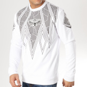 /achat-sweats-col-rond-crewneck/charo-sweat-crewneck-tribal-blanc-noir-164853.html