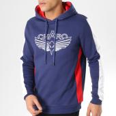 /achat-sweats-capuche/charo-sweat-capuche-avec-bandes-division-bleu-marine-blanc-rouge-164907.html