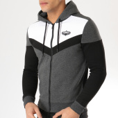 /achat-sweats-zippes-capuche/charo-sweat-capuche-zippe-hall-of-fame-gris-chine-blanc-noir-164952.html