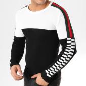 /achat-pulls/john-h-pull-a-bandes-jp-56-noir-blanc-164842.html