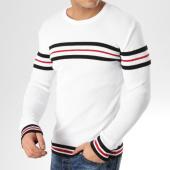 /achat-pulls/john-h-pull-a-bandes-jp-51-blanc-noir-rouge-164888.html