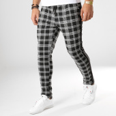 /achat-pantalons-carreaux/uniplay-pantalon-a-carreaux-avec-bandes-t3311-noir-blanc-164919.html